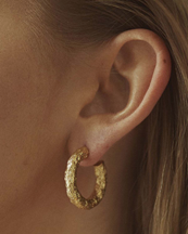 Nootka Jewelry Chunky Earrings Gold