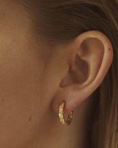 Nootka Jewelry Mid Hoop Gold