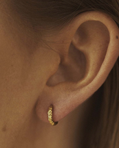 Nootka Jewelry Mini Hoop Gold