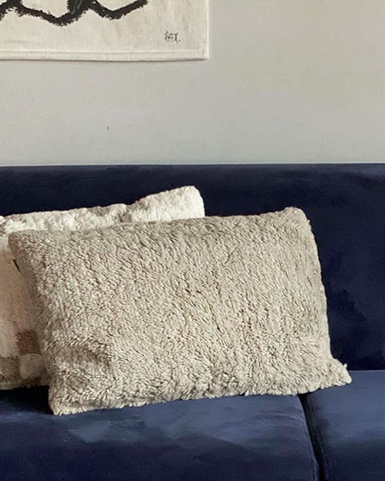 Layered Modern Oriental Pillow Bird In Space
