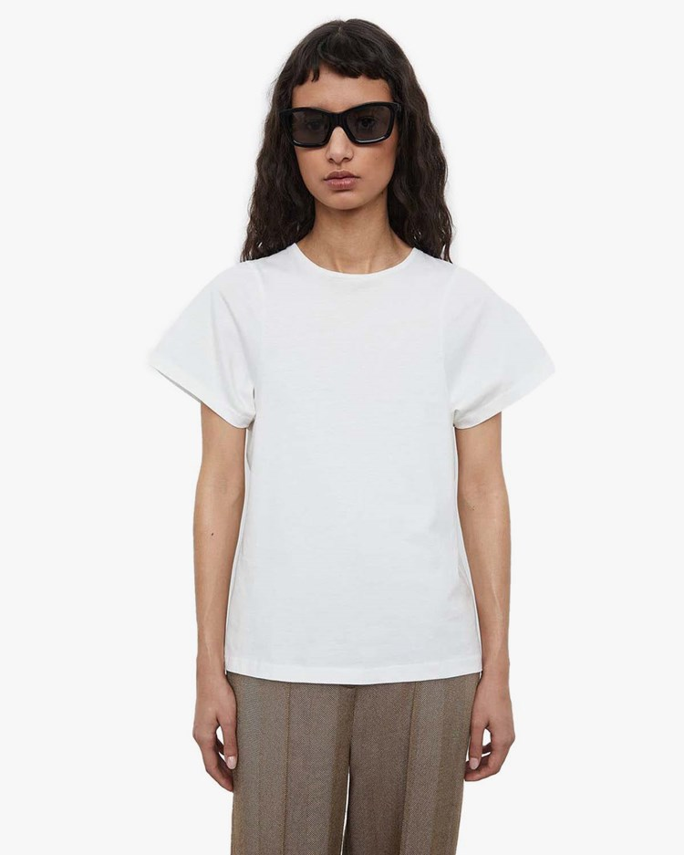 Toteme Curved Seam Tee Off-White