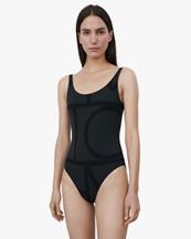 Toteme Printed Swimsuit Black Monogram