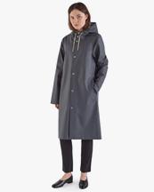 Stutterheim Stockholm Long Raincoat Charcoal