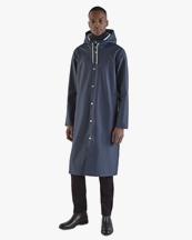 Stutterheim Stockholm Long Raincoat Navy