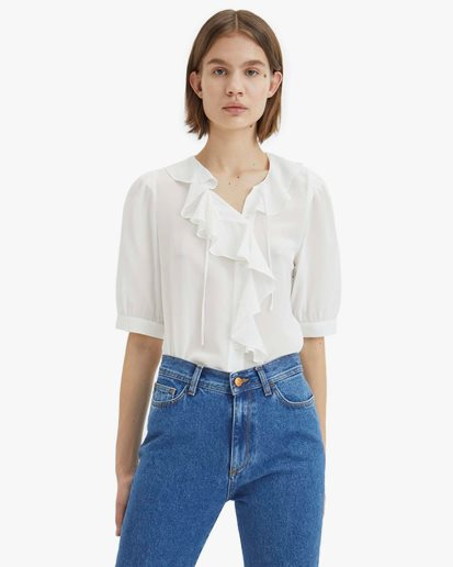 Rodebjer Xilla Silk Blouse Off White