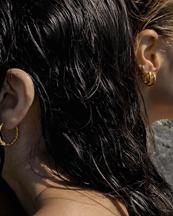 Nootka Jewelry Big Hoop Polished Gold