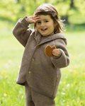 Engel Hooded Jacket Malnuss Melange