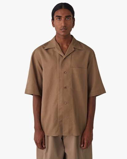 Lemaire Short Sleeve Shirt Taupe