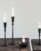 Tell Me More Boule Candle Holder Black
