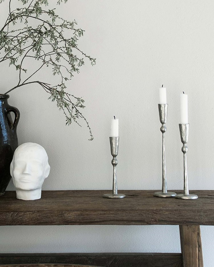 Tell Me More Boule Candle Holder Silver