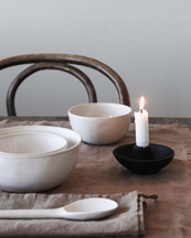 Tell Me More Toulouse Candle Holder Black