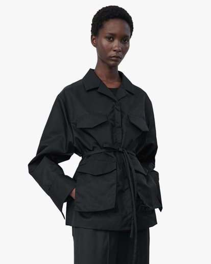 Toteme Belted Army Jacket Black