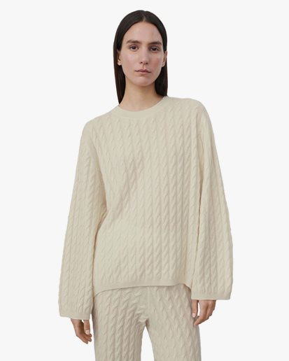 Toteme Cashmere Cable Knit Off White