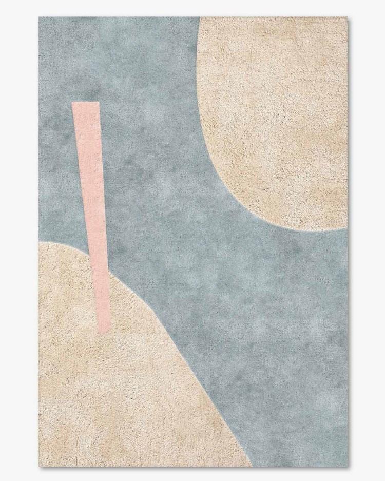 Layered Petite Rug Blue Canvas