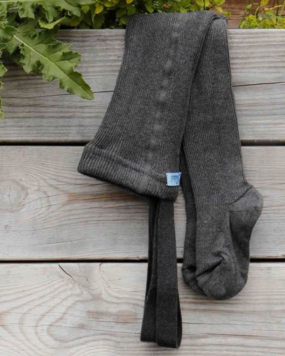 Silly Silas Footed Tights Dark Grey Blend