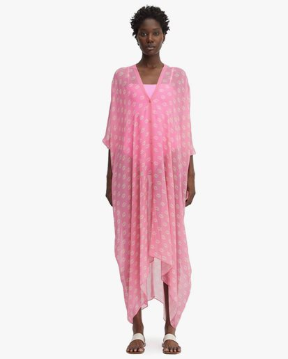 Rodebjer Agave Seahorse Caftan Neon Pink
