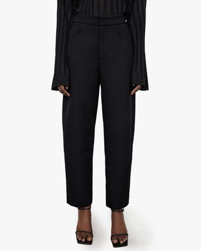 Toteme Twisted Seam Trousers Black