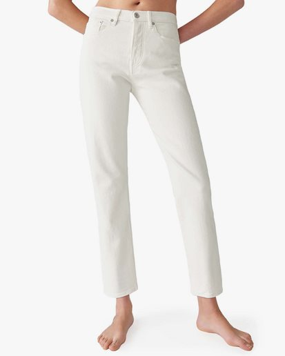 Jeanerica Cw002 5-Pocket Natural White