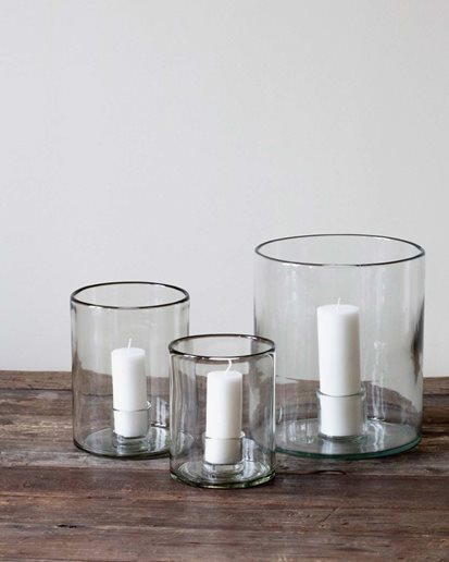 Tell Me More Luna Candle Holder Clear
