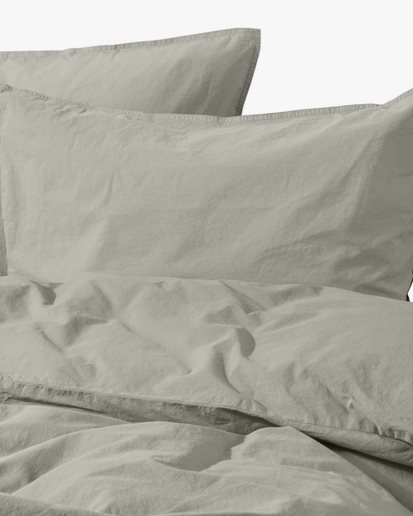 Tell Me More Duvet Cover Organic Cotton Frost