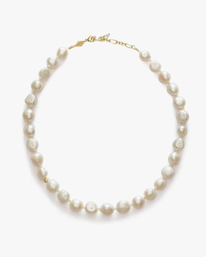 Anni Lu Stellar Pearly Necklace Gold