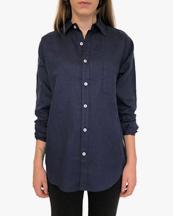 Vallgatan 12 Linen Shirt Blue