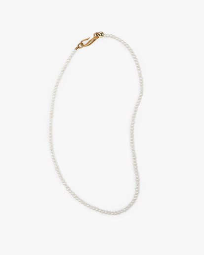 Blue Billie Thin Pearl Necklace Gold
