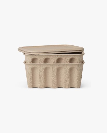 Ferm Living Paper Pulp Box Small 2-Pack