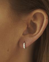 Nootka Jewelry Mini Hoop Silver