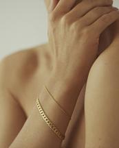 Nootka Jewelry Link Bracelet Gold
