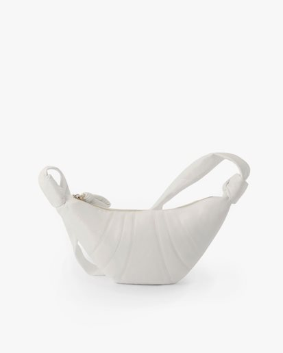 Lemaire Small Croissant Bag White