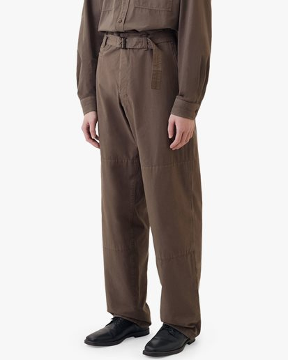 Lemaire Trench Pants Chestnut
