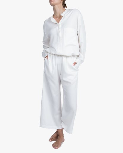 A Part Of The Art Airy Pants White