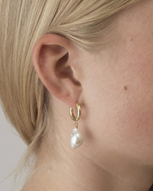 Anni Lu Gertrude Pearl Hoop Earrings