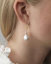 Anni Lu Seaweed Pearl Earring Gold