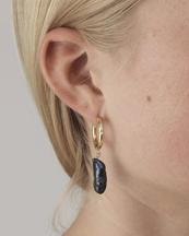 Anni Lu Diamonds And Pearls Earrings Black Oil