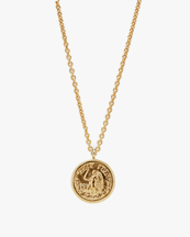 Tom Wood Angel Coin Pendant Necklace Gold