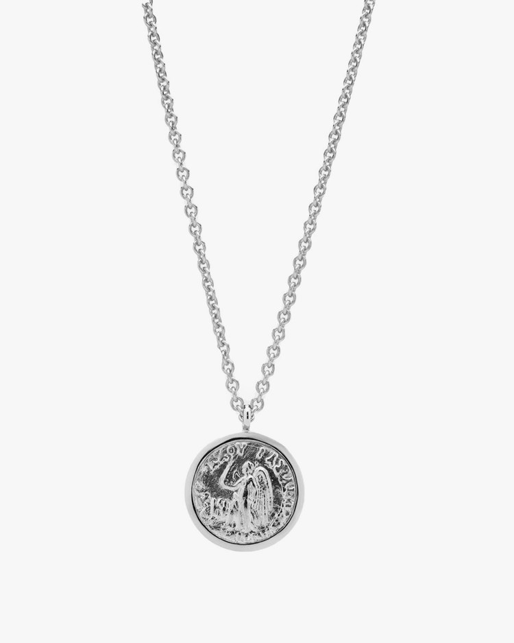 Tom Wood Angel Coin Pendant Necklace Silver