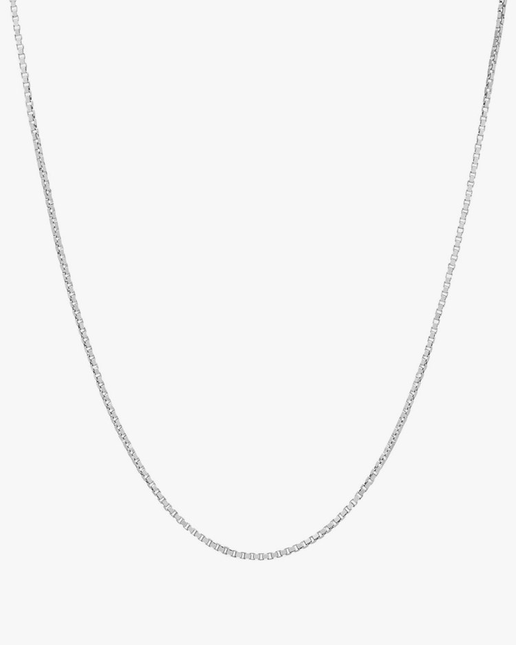 Tom Wood Square Chain Necklace Silver