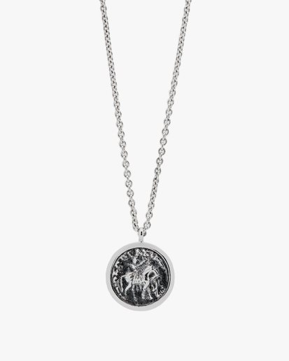 Tom Wood Coin Pendant Necklace Silver