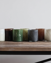 Tell Me More Lyric Candle Holder Linen
