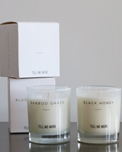 Tell Me More Scented Candle Clean Bamboo Grass