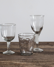 Tell Me More Galette Wine Glass Clear
