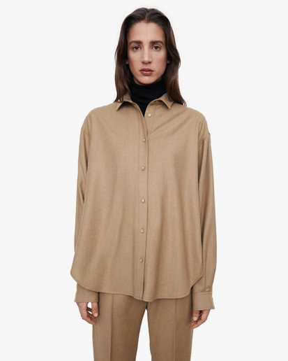 Toteme Smooth Flannel Shirt Light Camel