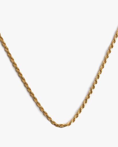 Blue Billie Rope Chain Necklace Gold