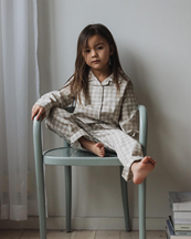 Studio Feder Love Pyjamas Set Gingham Oat