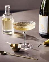 Ferm Living Ripple Champagne Saucer 2-Pack Clear