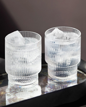 Ferm Living Ripple Glass 4-Pack Clear