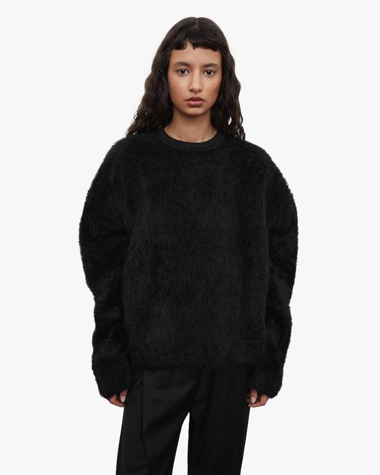 Toteme Boxy Alpaca Knit Black