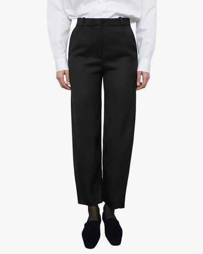 Toteme Twisted Seam Cotton Wool Trousers Black